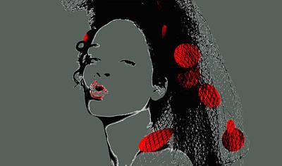 Rihanna Mixed Media - Rihanna 17d by Brian Reaves