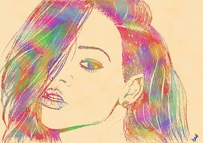 Rihanna Mixed Media - Rihanna 2 by Branislav Djuric