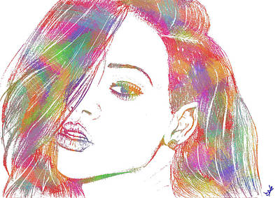 Rihanna 3 Art Print