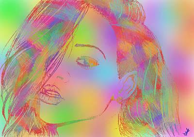 Rihanna 4 Art Print
