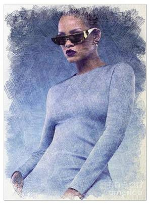 Rihanna Art Original by Insane Arts