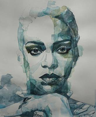 Painting - Rihanna - Art by Paul Lovering