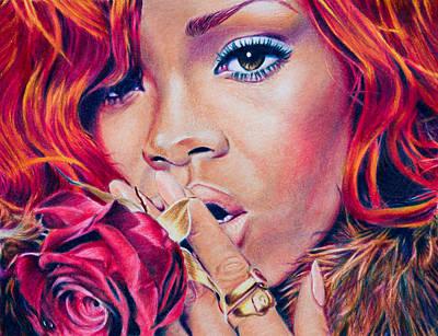 Rihanna Drawing - Rihanna by Brian Owens