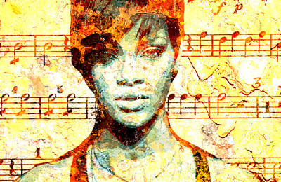 Rihanna Digital Art - Rihanna by Chandler  Douglas