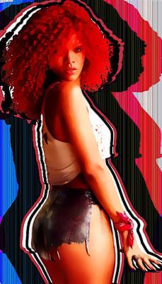 Rihanna Wall Art - Digital Art - Rihanna Colors By Gbs by Anibal Diaz