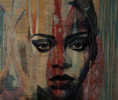 Mixed Media - Rihanna - Diamonds by Paul Lovering