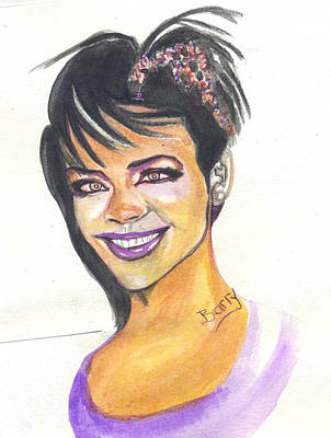 Rihanna Painting - Rihanna by Emmanuel Baliyanga