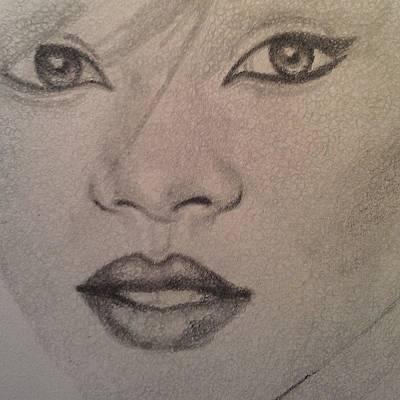 Rihanna Drawing - Rihanna by Eugenia Calin