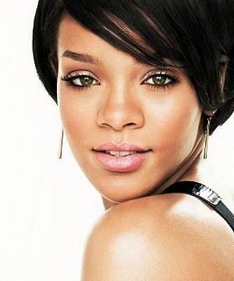 Rihanna Wall Art - Digital Art - Rihanna Haircut Face Look Earrings 3964 300x360 by Mery Moon