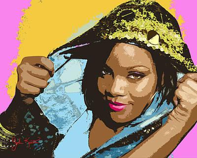 Digital Art - Rihanna by John Keaton