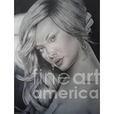 Rihanna Drawing - Rihanna by JT Lopez