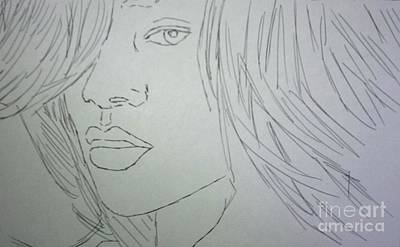 Drawing - Rihanna by Kristen Diefenbach