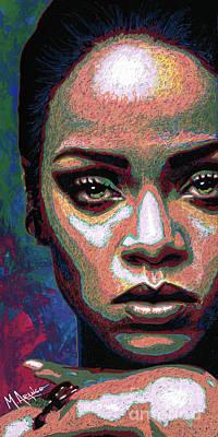 Painting - Rihanna by Maria Arango