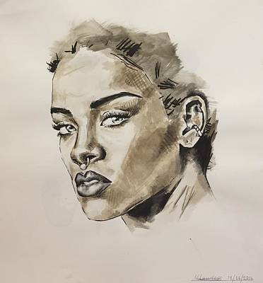 Rihanna Painting - Rihanna  by Megan Lawless