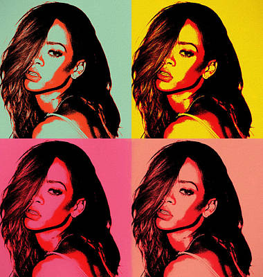 Painting - Rihanna Pop Art by Dan Sproul