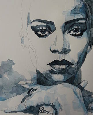 Painting - Rihanna - Pre Finish  by Paul Lovering