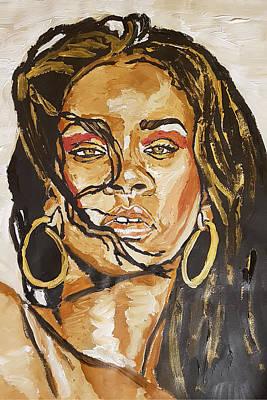 Painting - Rihanna by Rachel Natalie Rawlins