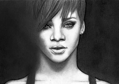 Rihanna Drawing - Rihanna by Rikke MY