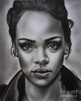 Rihanna Mixed Media - Rihanna by Terrence Oneal