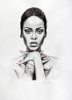 Rihanna Painting - Rihanna by Viktoriya Lavtsevich