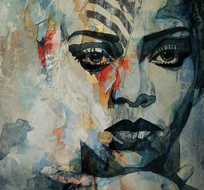Rihanna Painting - Rihanna What's My Name  by Paul Lovering