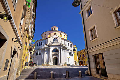 Photograph - Rijeka Church And Square Street View by Brch Photography