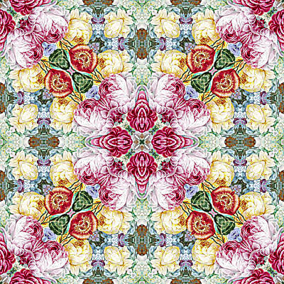 Digital Art - Rijksmuseum Floral Pattern by Ruth Moratz
