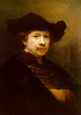 Rijn Rembrandt Van Portrait Of The Artist In A Flat Cap Art Print by Rembrandt