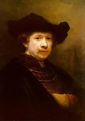 Rijn Rembrandt Van Portrait Of The Artist In A Flat Cap Art Print