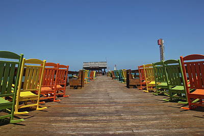 Photograph - Riki Tiki Bar And Colorful Chairs by Denise Mazzocco