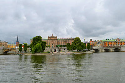 Photograph - Riksdag Parliament House. by Terence Davis