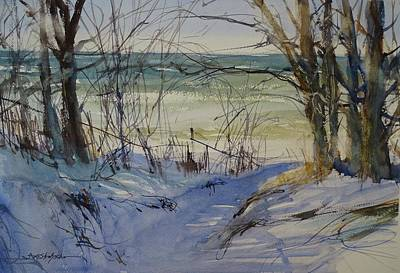 Painting - Riley Beach December by Sandra Strohschein
