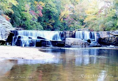 Photograph - Riley Moore Falls Oconee County Sc by Lane Owen