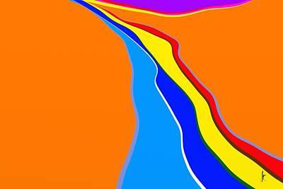 Digital Art - Rill by Victor Shelley