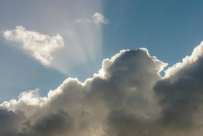 Photograph - Rim-lit Cloud by Robert Potts