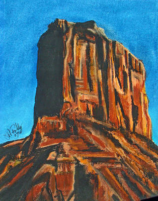 Pastel - Rim Rock by Michael Foltz