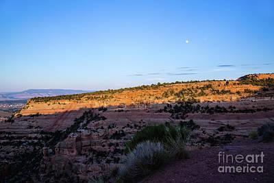 Photograph - Rim Rock Moon Rise by Jon Burch Photography