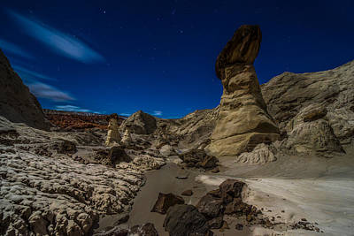 Ocean. Reflection Photograph - Rim Rock Toadstools Grand Staircase National Monument  by Larry Marshall