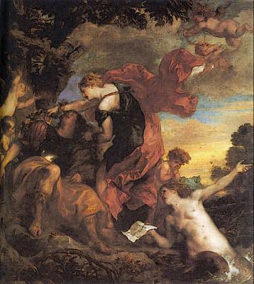 Digital Art - Rinaldo And Armida  by Sir Antony van Dyck