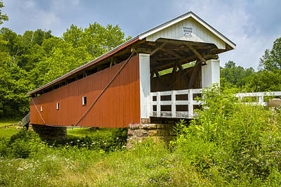 Music Royalty-Free and Rights-Managed Images - Rinard Covered Bridge by Jack R Perry