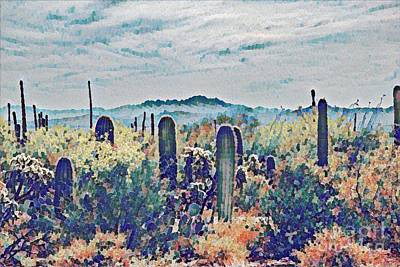Rincon Mountains Wall Art - Digital Art - Rincon In The Distance by Melissa McInnis