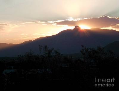 Rincon Mountains Wall Art - Photograph - Rincon Peak Sunrise by Jerry Bokowski