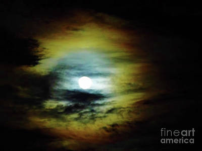Photograph - Ring Around The Moon by D Hackett