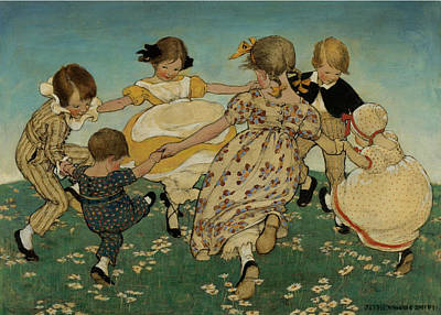 Good Housekeeping Painting - Ring Around The Roses by Jessie Wilcox Smith