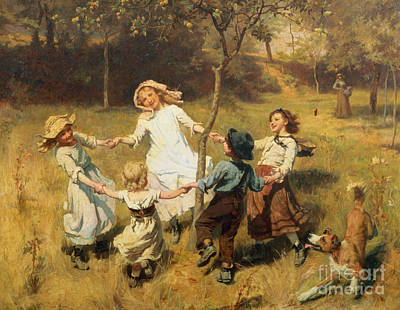 Meadow Painting - Ring Of Roses by Frederick Morgan