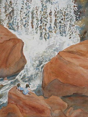 Waterfalls Painting - Ring Side Seats II by Jenny Armitage