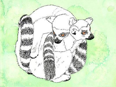 Ring-tailed Lemur Huddle Original