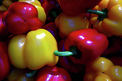 Ringing Colors - Bell Pepper Art Print by Ramabhadran Thirupattur