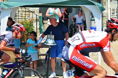 Bike Races Photograph - Ringing The Bell by Bill Cannon