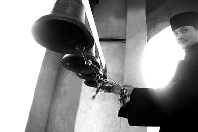 Ringing The Bells At The Monastery Art Print